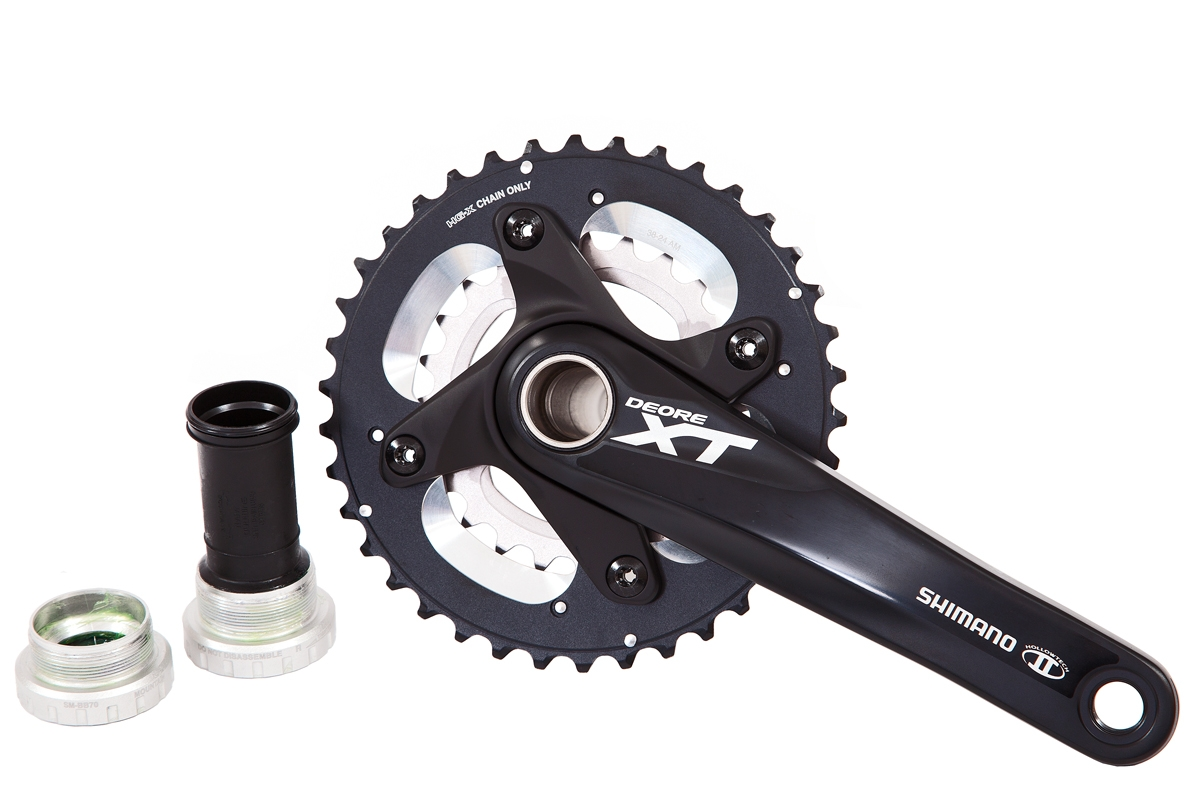 Shimano crankset XT 2x10-speed 38/24T 175mm black