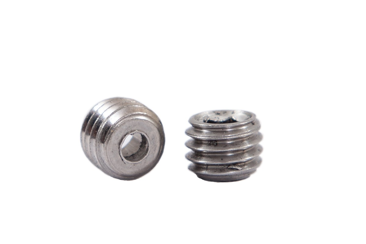 Headless screw for IGUS-bearing shaft